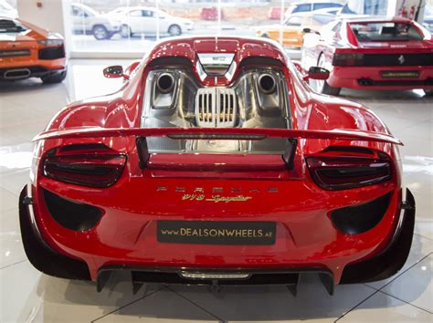 red porsche 918 red porsche 918 spyder weissach even stands out in dubai