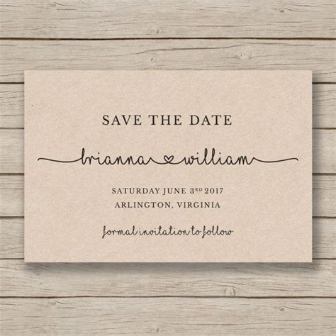 Save The Date Template 25 best ideas about save the date wording on