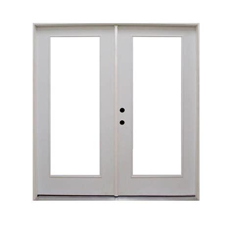 inswing patio door steves sons 72 in x 80 in retrofit prehung right inswing primed white steel patio door