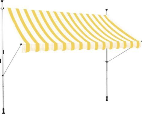 balkon markise kaufen klemmmarkise balkon markise 2 5x1 5 m stoff gelb weiss