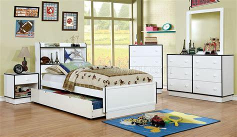 kids blue bedroom furniture bobbi cm7852bl 4pc kids bedroom set in white blue w options