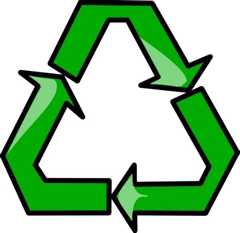 recycling sign symbol clip art free vector in open office