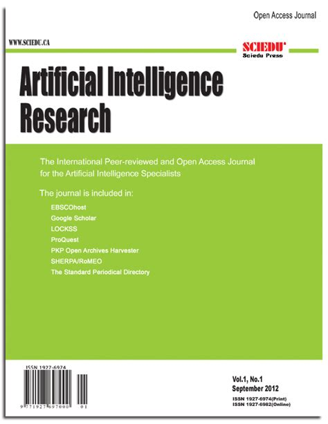 pattern recognition and machine learning impact factor artificial intelligence research