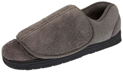 mens extra wide house slippers mens extra wide fit slippers orthopaedic diabetic adjustable comfort shoes size ebay
