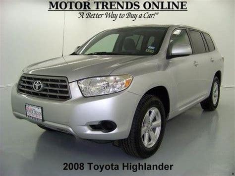 Toyota Highlander Cruise Buy Used 2008 Toyota Highlander 3 5 V6 Alloys 7 Pass 3rd