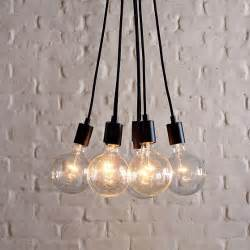 Hanging Bulb Chandelier Industrial Bulb Pendant Midcentury Pendant Lighting By West Elm