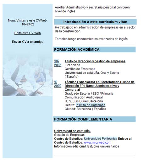 Modelo Curriculum Europeo Word Descargar Curriculum Vitae Word Vitae