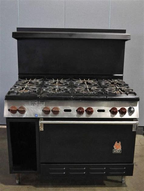 Oven Gas Standar 8 burner range with standard oven wolf model ch 8 29 gas