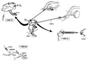 Brake Line Diagram 66 Mustang Ford Mustang Parking Brake Components Cal Mustang