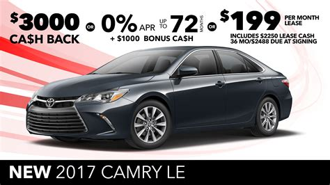 toyota offers lease deals on toyota camry lamoureph blog