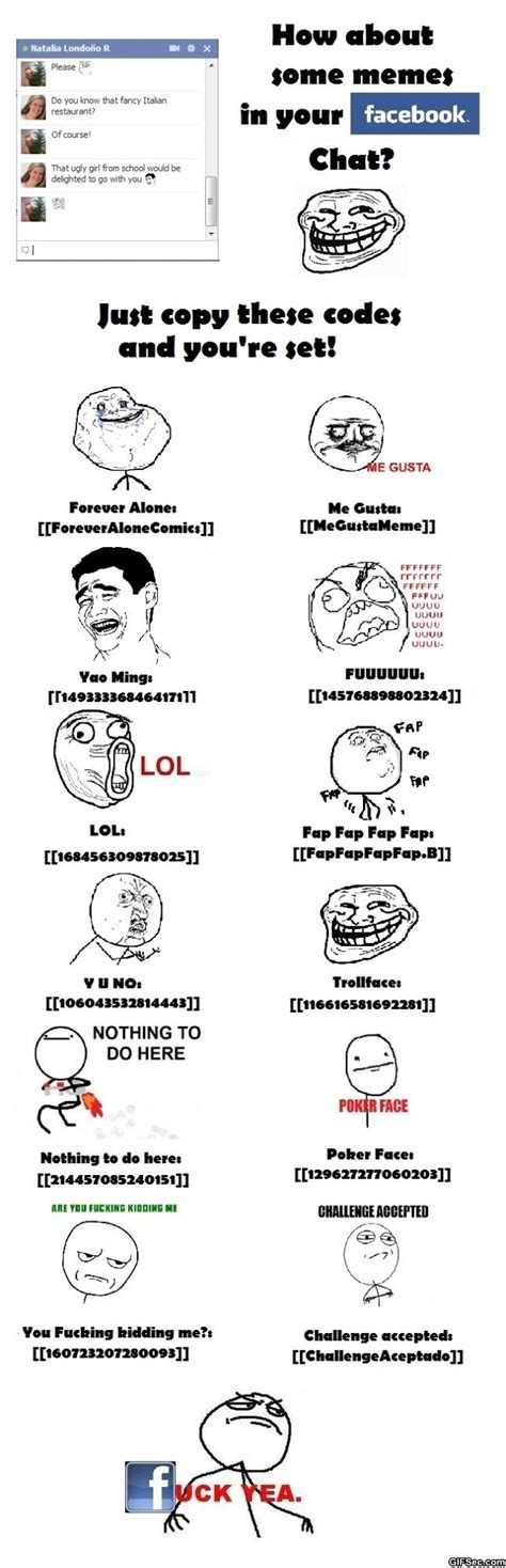 Facebook Chat Meme Faces - memes no chat do facebook memes