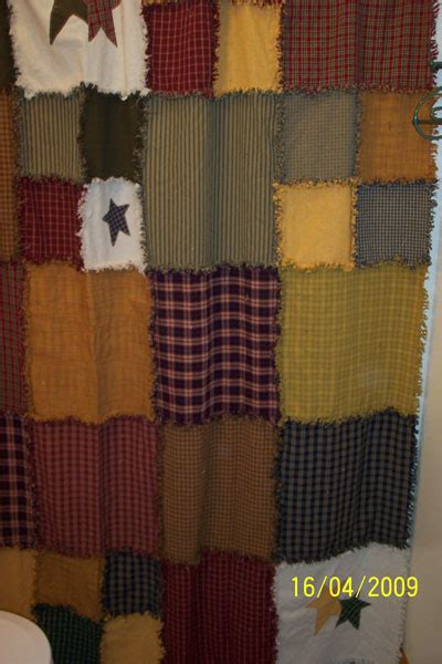 rag quilt curtains ragged shower curtain jubilee homespun projects