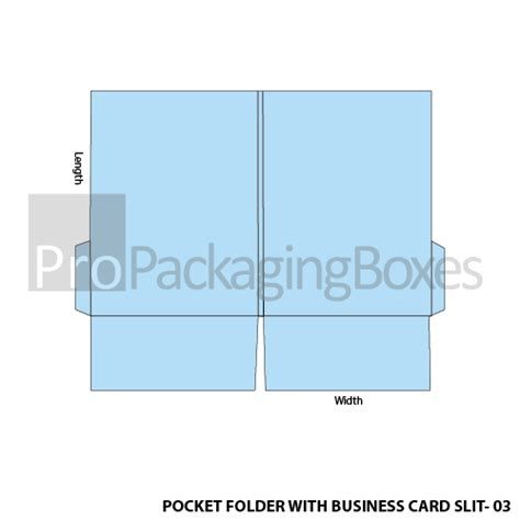 Pocket Folders With Business Card Slits Propackagingboxes Business Card Slits Template