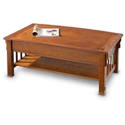 castlecreek mission style lift top coffee table 281544