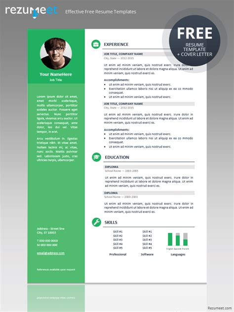 business resume template photoshop orienta free professional resume cv template