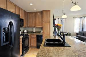 Black Appliances Kitchen Ideas by Kitchen Design Black Appliances With Marble Table And