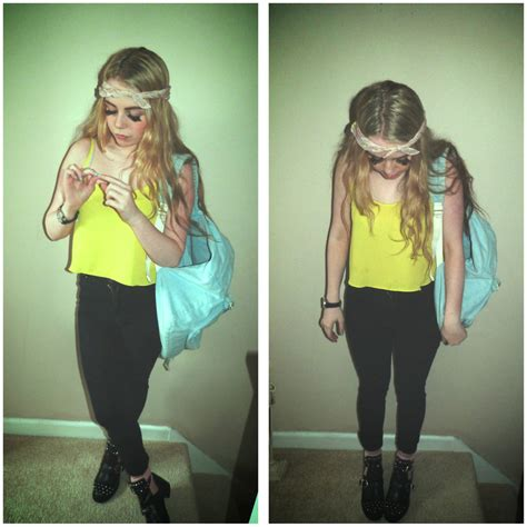 Topshop Comes To America by Caitlin Pucci Bandana Topshop Neon Cami Cheap