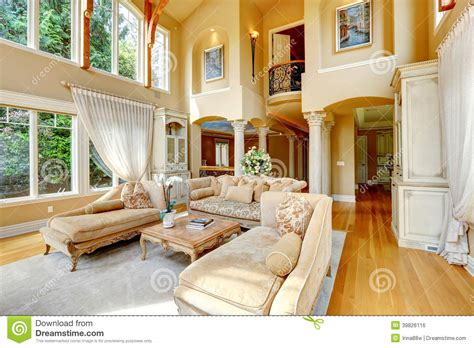 Luxury House Interior. Living Room Stock Photo   Image: 39826116