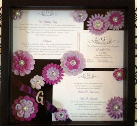 Wedding Invitation Keepsake Shadow Box by 4 Best Images Of Wedding Memory Crafts Wedding Memory