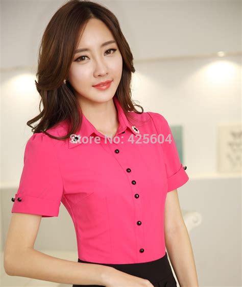 Promo Blouse Kemeja Kerja Wania Zaitun Shirt formal style sleeve summer blouses shirt tops office