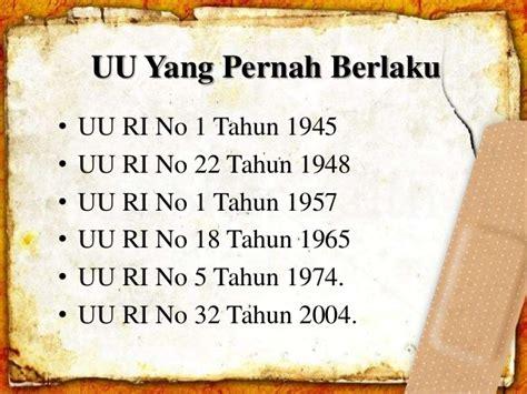 Uu Ri No 32 Dan 33 Tahun 2004 Tentang Otoda 2004 2010 harmonisasi pemerintah daerah pusat