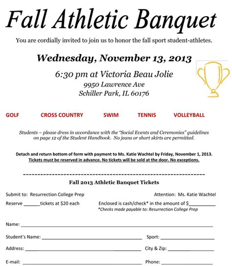 Sports Banquet Invitation Sles Sports Banquet Program Templates Free
