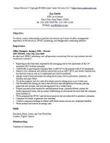Career Objective On A Resume by Resume Objective Exles Resume Cv