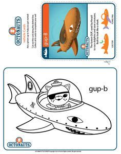 Gup X Coloring Page by Black And White Picture Of Shellington Octonauts