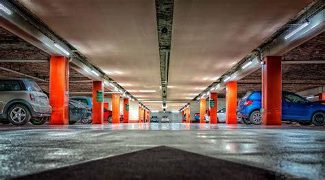 picture underground garage car city reflection light