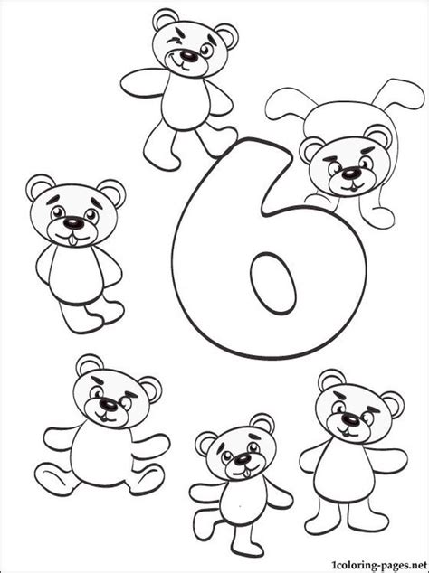 coloring page number 6 get this number 6 coloring page 686s6