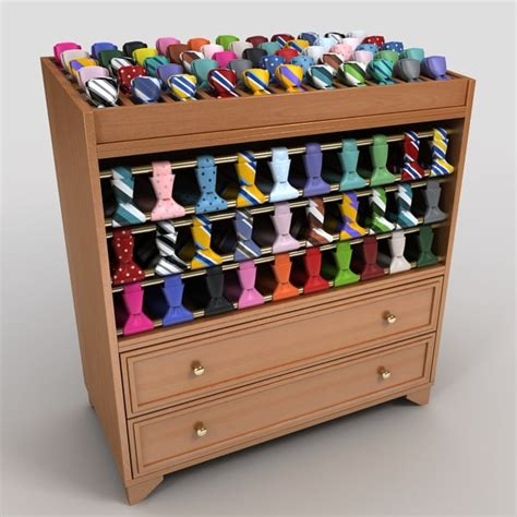 Necktie Display Rack by Tie Display Rack 3d 3ds