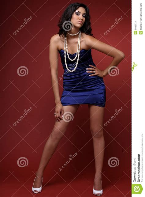 who is the brunette in the blue dress in the viagra add brunette in blue dress stock photos image 5806773