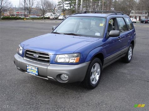 2003 Pacifica Blue Metallic Subaru Forester 2 5 Xs