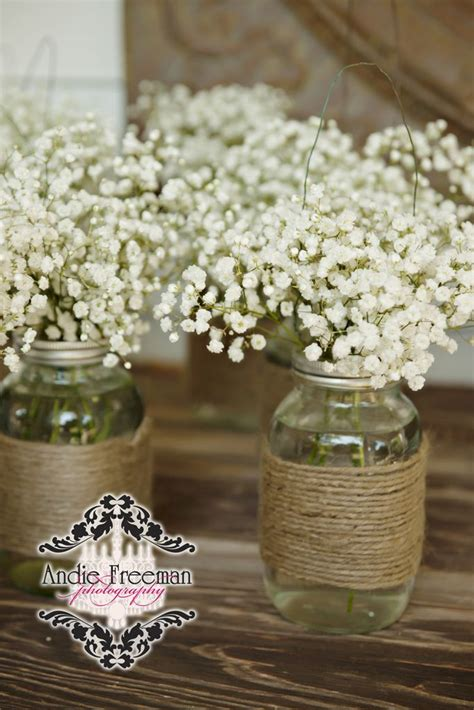 shabby chic wedding table decorations 68 baby s breath wedding ideas for rustic weddings jars