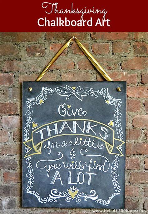diy thanksgiving chalkboard art
