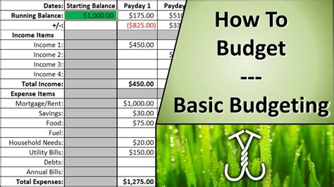 how to how to budget basic budgeting youtube