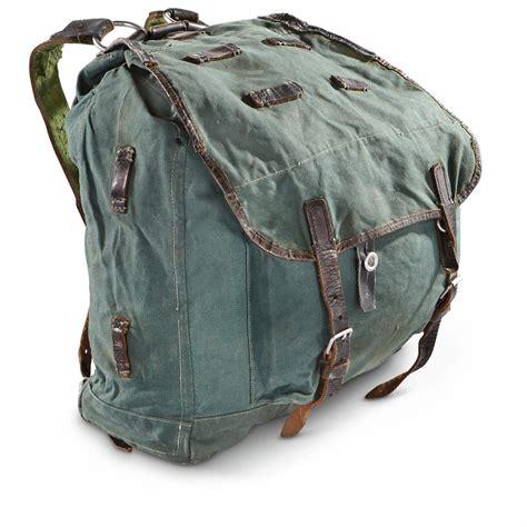 Army Backpack 3 In 2 used german surplus wwii style rucksack 619355