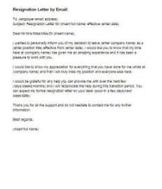 Sle Resignation Letter Email Format by Resignation Letter By Email Sle Just Letter Templates