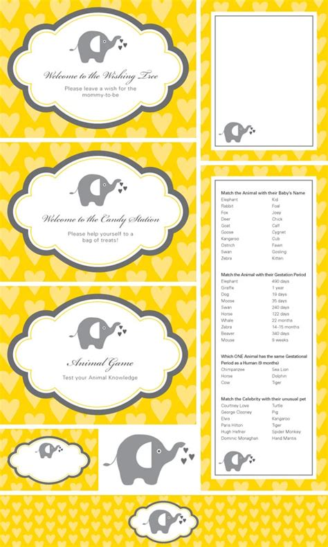 printable labels yellow gender neutral baby shower ideas babies baby shower