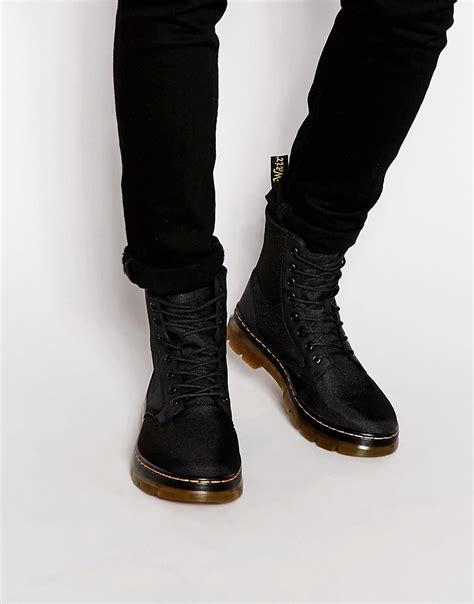 mens dr martens boots dr martens tract fold boots in black for lyst