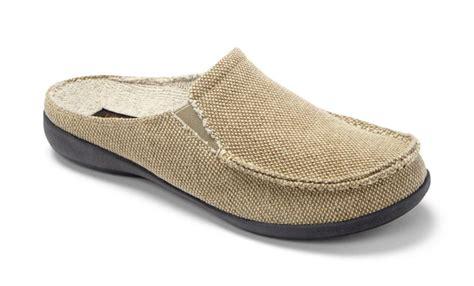 mens indoor slippers vionic taunton mens indoor outdoor canvas slippers free