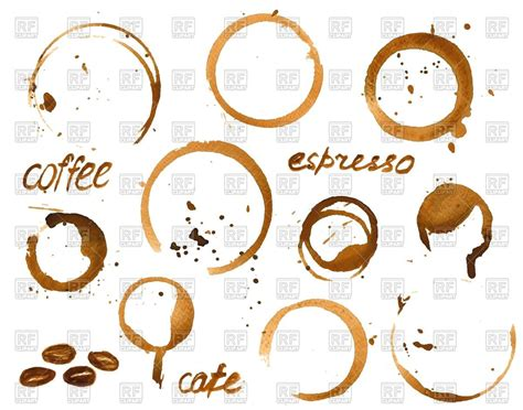 free royalty free clipart stains of coffee cup set royalty free vector clip