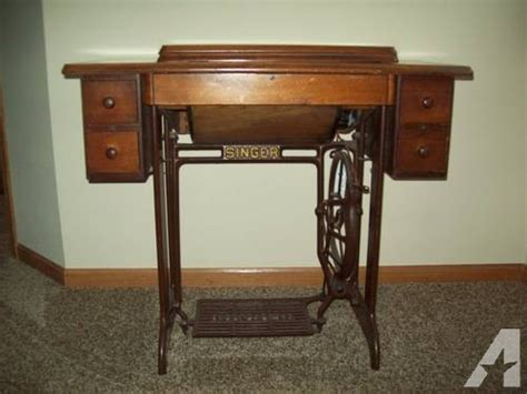1910 1925 singer treadel sewing machine cabinet for