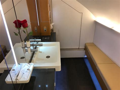 lufthansa first class bathroom lufthansa first class a380 vs 747 8 live and let s fly