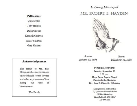 Funeral Mass Program Template Free catholic funeral program quotes