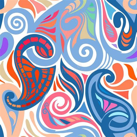 abstract pattern for website colorful abstract seamless paisley pattern stock