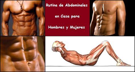 abdominales en casa para hombres rutina de abdominales para hombres y mujeres en casa