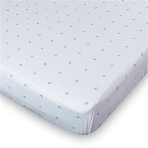Soft Crib Mattress Crib Sheets Set 2 Pack Blue Fitted Soft Jersey Cotton Crib Mattre