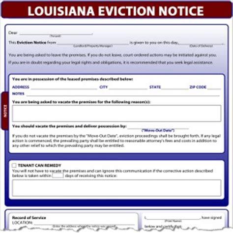 free sle eviction notice louisiana louisiana eviction notice
