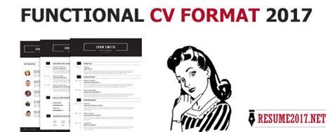 functional resume sle 2017 cv 2017 format